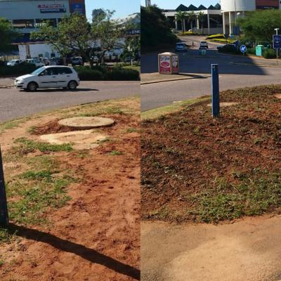 Before and after pictures of progress being made in Ballito