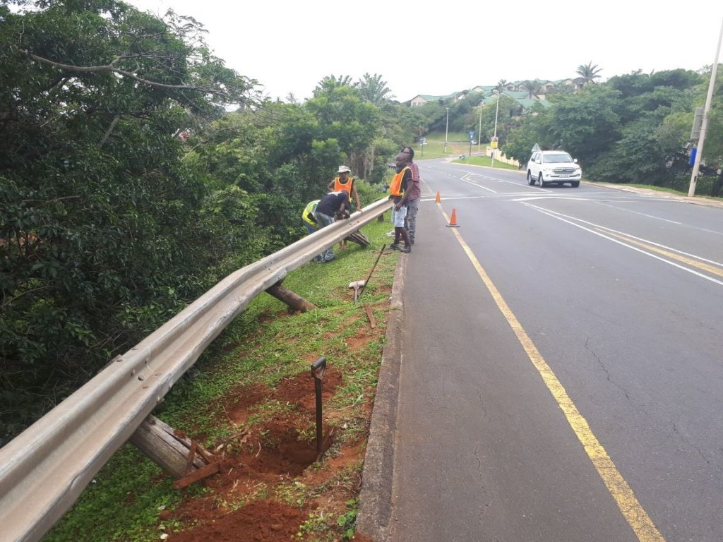 Repairs to Armco Barriers